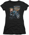 Betty Boop juniors sheer t-shirt Choppers black