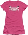 Betty Boop juniors sheer t-shirt Classic Boop hot pink