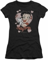 Betty Boop juniors sheer t-shirt Classic Kiss black