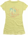 Betty Boop juniors sheer t-shirt Classy Dame banana