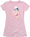 Betty Boop juniors sheer t-shirt Cupcake pink