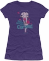 Betty Boop juniors sheer t-shirt Curves purple
