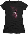 Betty Boop juniors sheer t-shirt Cutie black
