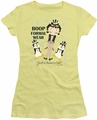 Betty Boop juniors sheer t-shirt Dressed To Chill banana
