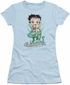 Betty Boop juniors sheer t-shirt Enchanted Boop light blue