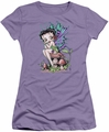Betty Boop juniors sheer t-shirt Fairy lavendar