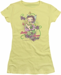 Betty Boop juniors sheer t-shirt Flower Vine Fairy banana