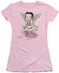 Betty Boop juniors sheer t-shirt Grandma Guardian Angel pink