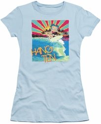 Betty Boop juniors sheer t-shirt Hang Ten light blue