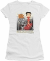 Betty Boop juniors sheer t-shirt Hollywood white