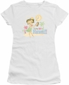 Betty Boop juniors sheer t-shirt Hot In Hawaii white