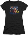 Betty Boop juniors sheer t-shirt Hot Rod Boop black