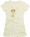 Betty Boop juniors sheer t-shirt Hula Flowers cream