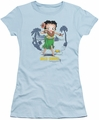 Betty Boop juniors sheer t-shirt Hula Honey light blue