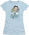 Betty Boop juniors sheer t-shirt I Believe In Angels light blue