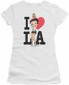 Betty Boop juniors sheer t-shirt I Heart L.A. white