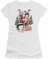 Betty Boop juniors sheer t-shirt I Want It All white