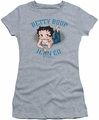 Betty Boop juniors sheer t-shirt Jean Co heather