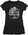 Betty Boop juniors sheer t-shirt Keep On Boopin black