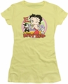 Betty Boop juniors sheer t-shirt Kiss banana