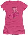 Betty Boop juniors sheer t-shirt Kissable Huggable hot pink