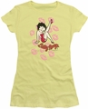 Betty Boop juniors sheer t-shirt Kisses banana