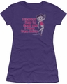Betty Boop juniors sheer t-shirt Learned From Betty purple