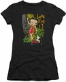 Betty Boop juniors sheer t-shirt Luau Lady black