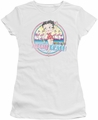 Betty Boop juniors sheer t-shirt Miami Beach white