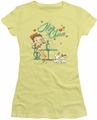Betty Boop juniors sheer t-shirt Mon Cherie banana