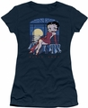 Betty Boop juniors sheer t-shirt Moonlight navy