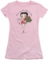 Betty Boop juniors sheer t-shirt Mother Is Sweet pink