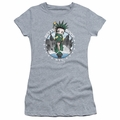 Betty Boop juniors sheer t-shirt NYC charcoal
