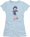 Betty Boop juniors sheer t-shirt Officer Boop light blue