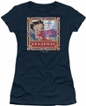 Betty Boop juniors sheer t-shirt On Broadway navy