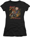 Betty Boop juniors sheer t-shirt On Wheels black