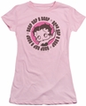 Betty Boop juniors sheer t-shirt Oop A Doop pink