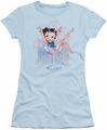 Betty Boop juniors sheer t-shirt Pink Champagne light blue