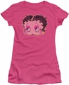 Betty Boop juniors sheer t-shirt Pop Art Boop hot pink