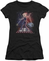 Betty Boop juniors sheer t-shirt Pop Star black
