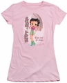 Betty Boop juniors sheer t-shirt Rain Rain Go Away pink