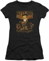 Betty Boop juniors sheer t-shirt Rebel Rider black
