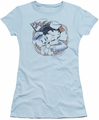 Betty Boop juniors sheer t-shirt S.S. Vintage light blue