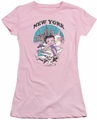 Betty Boop juniors sheer t-shirt Singing In NY pink