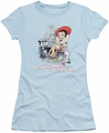 Betty Boop juniors sheer t-shirt So Many Shoes light blue