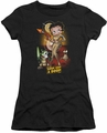 Betty Boop juniors sheer t-shirt Star Princess black