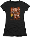 Betty Boop juniors sheer t-shirt Sunset Rider black