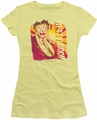 Betty Boop juniors sheer t-shirt Sunset Surf banana