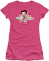Betty Boop juniors sheer t-shirt Surf hot pink
