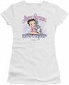 Betty Boop juniors sheer t-shirt Sweet Dreams white